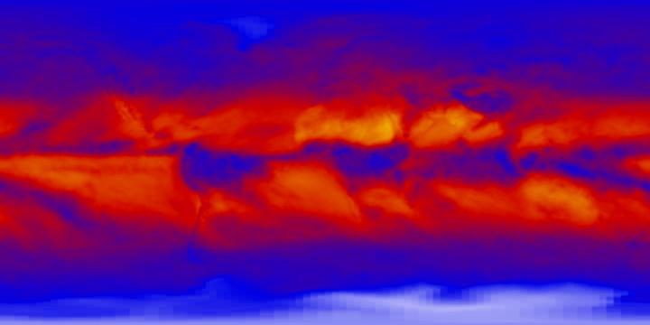 Outgoing Longwave Radiation (1 month)   NASA