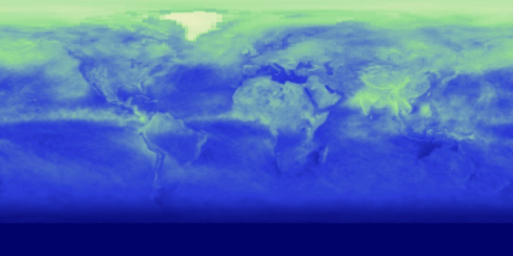 Reflected Shortwave Radiation (1 month)   NASA