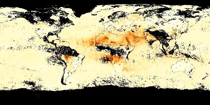 Aerosol Optical Thickness (1 month - Aqua/MODIS) | NASA