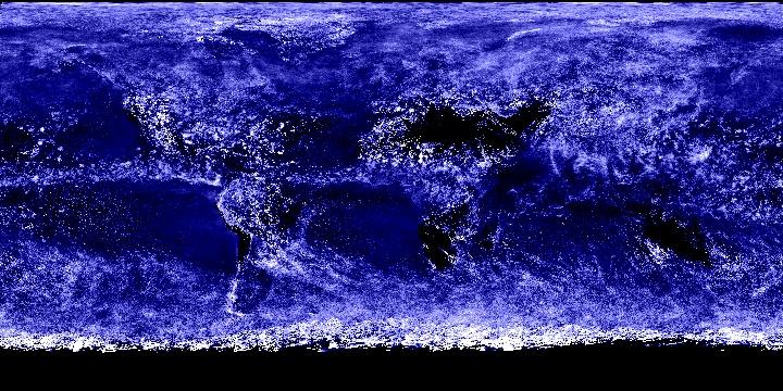 Cloud Optical Thickness (1 month - Aqua/MODIS)   NASA