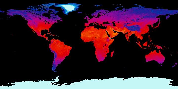 Land Surface Temperature [Night] (1 month - Terra/MODIS) | NASA
