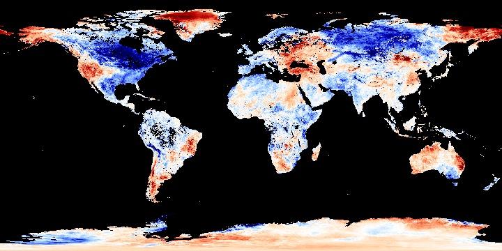 Land Surface Temperature Anomaly [Day] (8 day) | NASA
