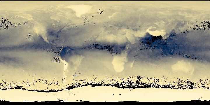 Water Vapor (1 month - Aqua/MODIS)   NASA
