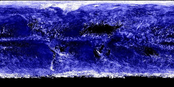 Cloud Optical Thickness (1 month - Terra/MODIS)   NASA