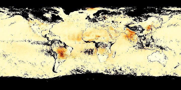Aerosol Optical Thickness (1 month - Terra/MODIS) | NASA