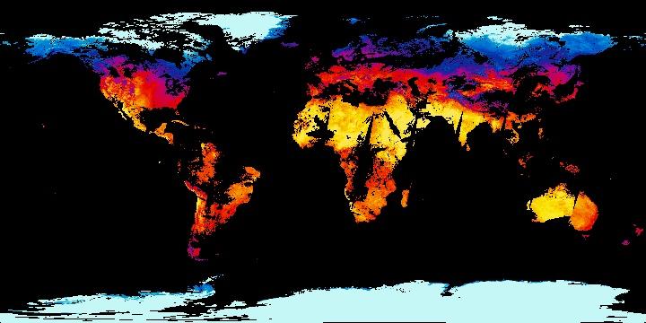 Land Surface Temperature [Day] (1 day - Terra/MODIS)   NASA