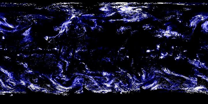 Cloud Optical Thickness (1 day - Terra/MODIS)   NASA