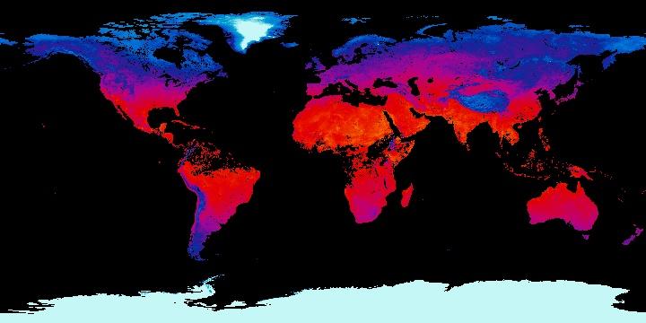 Land Surface Temperature [Night] (8 day - Terra/MODIS) | NASA