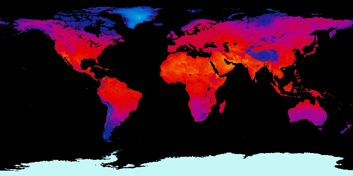 Land Surface Temperature [Night] (1 month - Terra/MODIS)   NASA