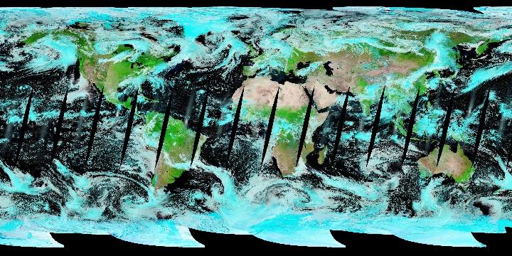 False Color (1 day - Terra/MODIS)   NASA