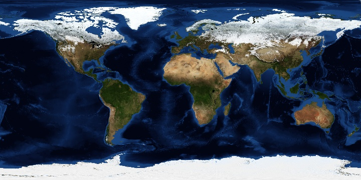 Blue Marble: Next Generation +Topography and Bathymetry | NASA
